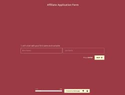 Affiliate-Antragsformularvorlage
