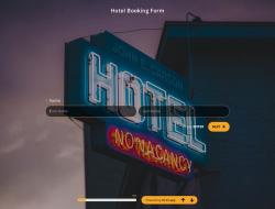 Hotelbuchungsformular-Vorlage
