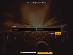 Plantilla de Formulario de Registro de Concierto