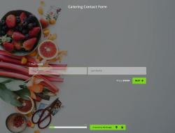 Modelo de Formulário de Contato de Catering