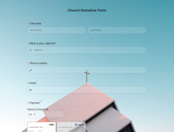 Modèle de Formulaire de don D'église