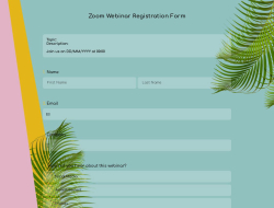 Zoom Webinar Registration Form Template