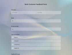 Modèle de Formulaire de Commentaires des Clients de la Banque