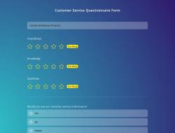 Formulário de Questionáriode Atendimento Ao Cliente