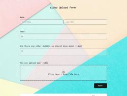 Video-Upload-Formularvorlage