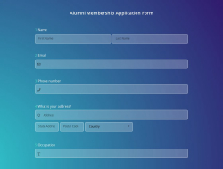 Alumni Membership Application Form Template