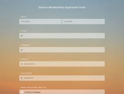 Generic Membership Application Form Template