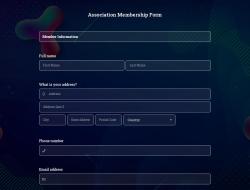 Association Membership Form Template