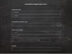Association Registration Form Template
