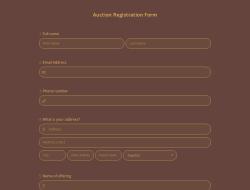 Auction Registration Form Template