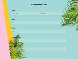 Modèle de Formulaire de Demande de Vacances