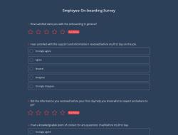 Employee On-boarding Survey Template