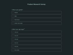 Product Research Survey Template