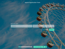 Award Application Form Template