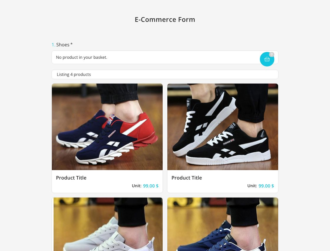 E-Commerce-Formularvorlage