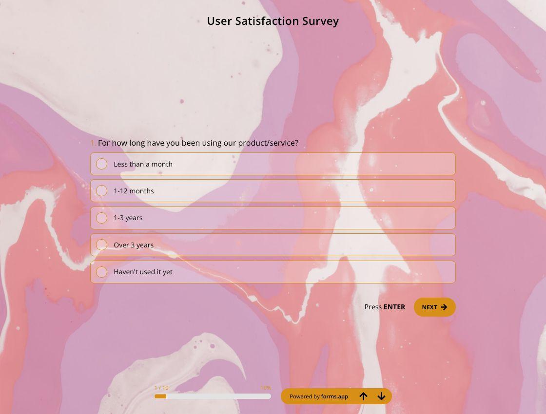 User Satisfaction Survey Template